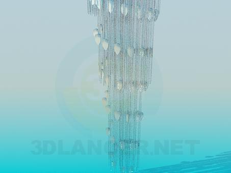3d model Lámpara chandelier de cristal - vista previa
