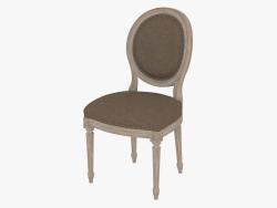 भोजन कुर्सी फ्रेंच विंटेज लूइस ROUND साइड चेयर (8827.0003.A008)