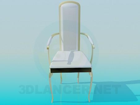 3d модель Стул белый – превью