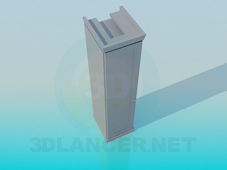 3d model Slim Cabinet - preview