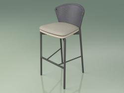 Bar stool 050 (Gray, Metal Smoke, Polyurethane Resin Mole)