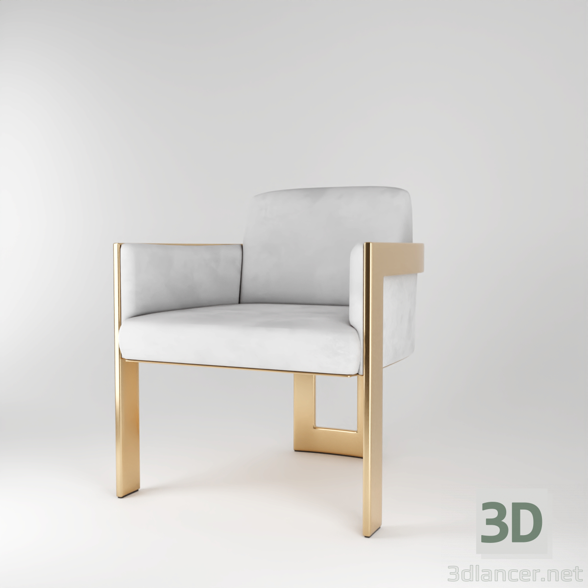 3d model Ash Cair - preview