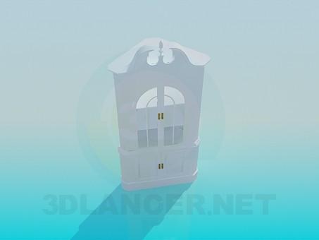 3d модель Угловой буфет – превью