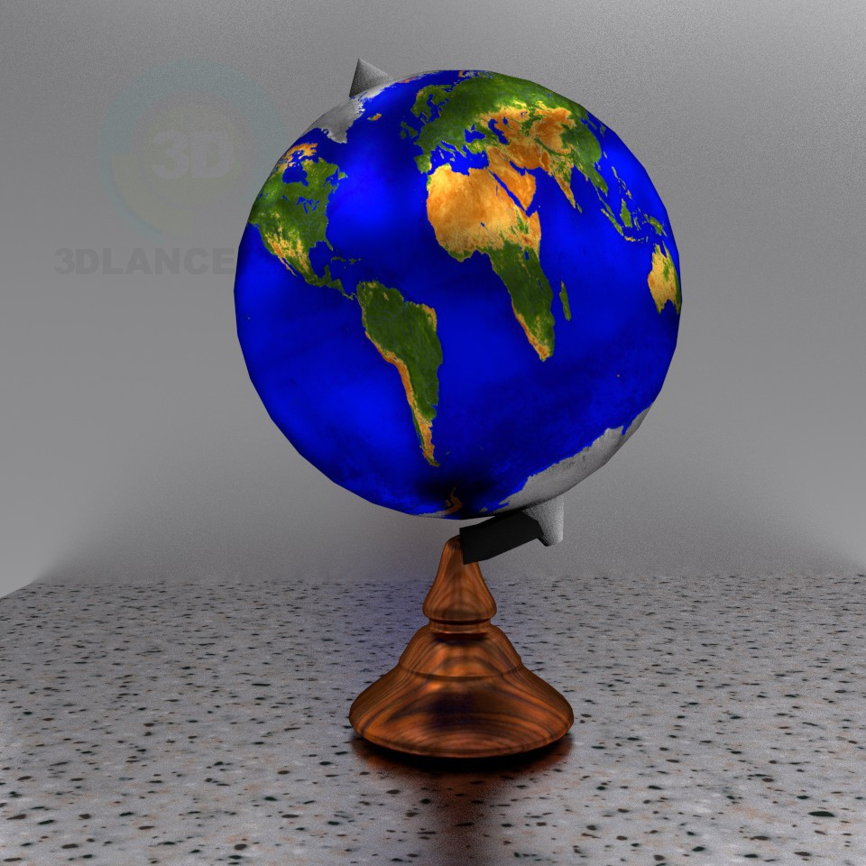 3d modeling globe model free download