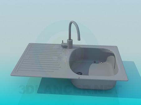 3d модель Мойка кухонная – превью