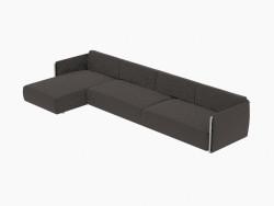 Quatro sofá de canto 370 Composizione