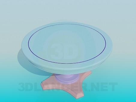 descarga gratuita de 3D modelado modelo Mesa redonda en la pierna