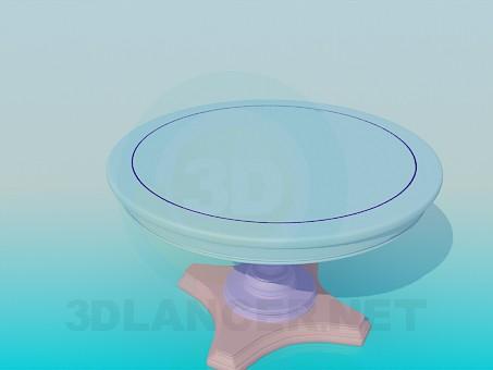 3d модель Круглый стол на ножке – превью