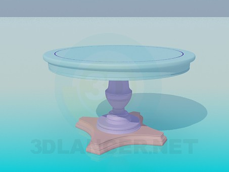 3d model Round table on the leg - preview