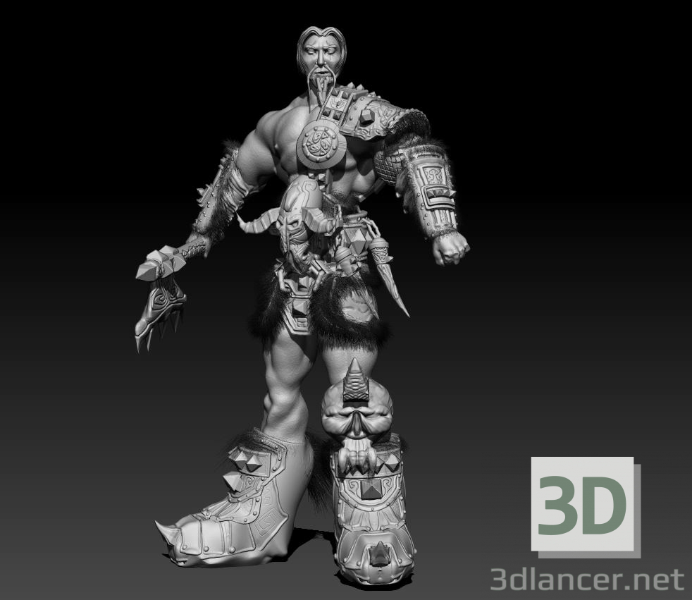 3d Barbarian model buy - render
