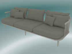 Sofa Fly Triple (SC12, 80x240 N 70cm, White oiled oak with Hot Madison 094)