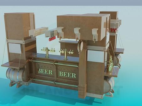 3d модель Пивной бар – превью