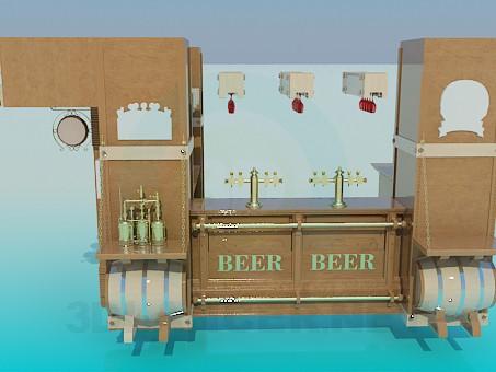3d model Beer bar - preview