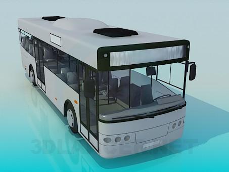 modelo 3D Autobuses - escuchar