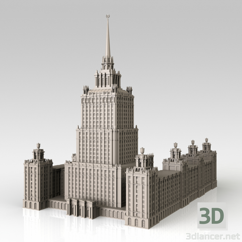 Modello 3d hotel ucraina mosca scaricare for Design hotel mosca