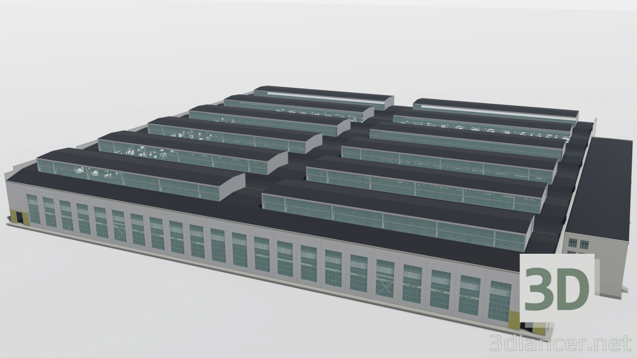 3d Assembly shop Emanzhelinsk model buy - render