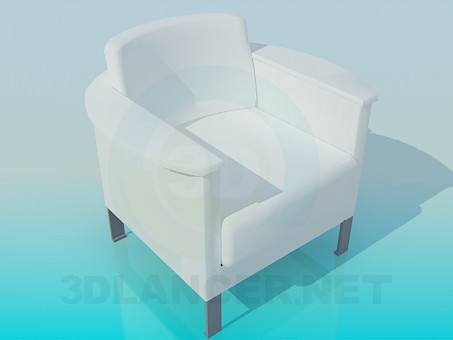 3d model Snowy armchair - preview