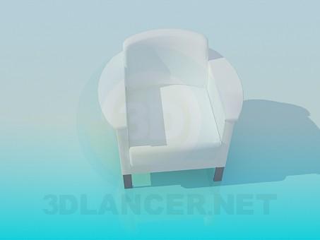 modelo 3D Sillón cubierto de nieve - escuchar
