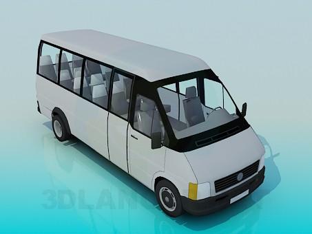 3d моделювання Мікроавтобус модель завантажити безкоштовно