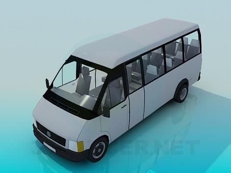3d модель Микроавтобус – превью