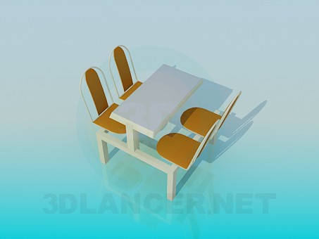 3d modeling A table in the cafe model free download