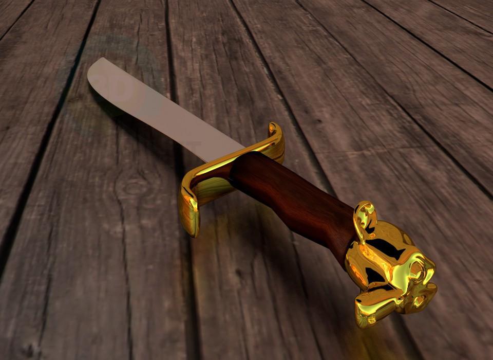 3d модель Нож – превью