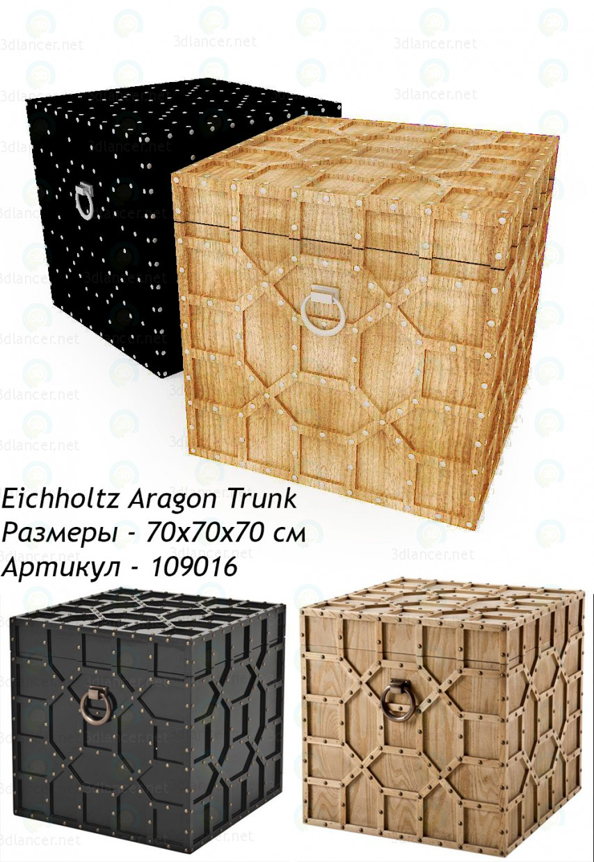 3d model Eichholtz Aragon Trunk chest - preview