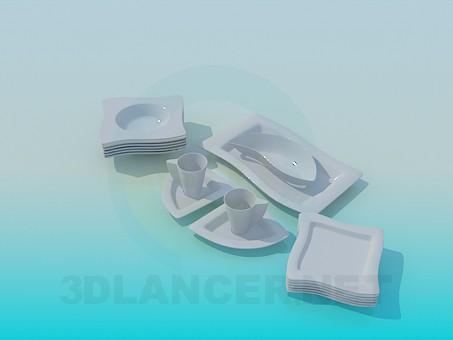 modelo 3D juego de ollas - escuchar