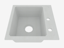 Sink, 1 bowl without wing for drying - gray metal Zorba (ZQZ S103)
