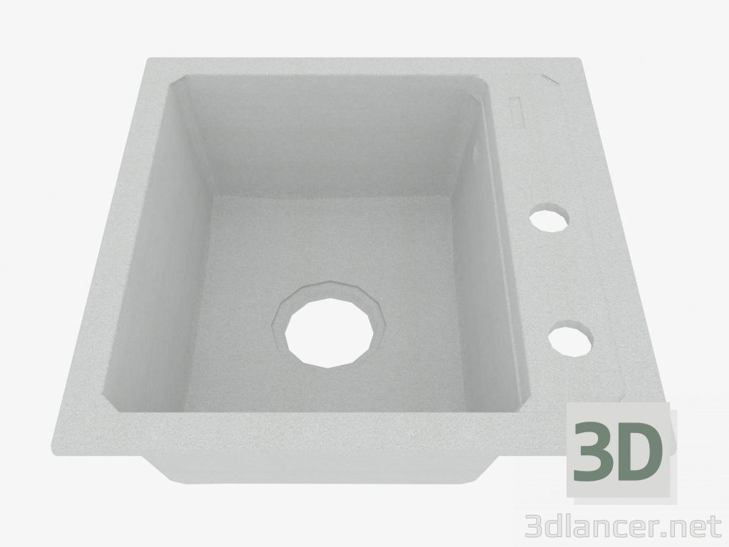 3d model Fregadero, 1 recipiente sin ala para secar - Zorba de metal gris (ZQZ S103) - vista previa