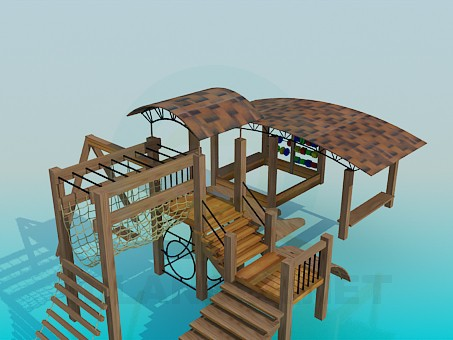 3d modeling Entertainment complex on the playground model free download