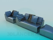 A set of upholstered furniture
