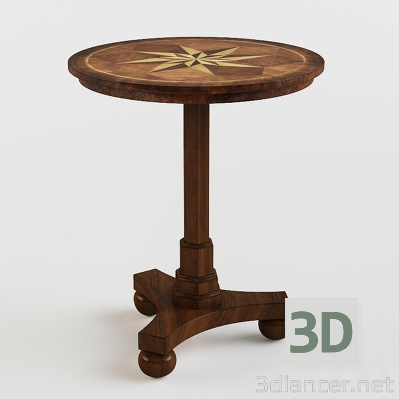 3 डी मॉडल कृति प्राचीन चेरी एक्सेंट तालिका - पूर्वावलोकन