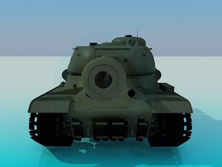 3d модель IS-2 – превью