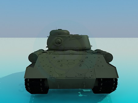 3d model IS-2 - preview