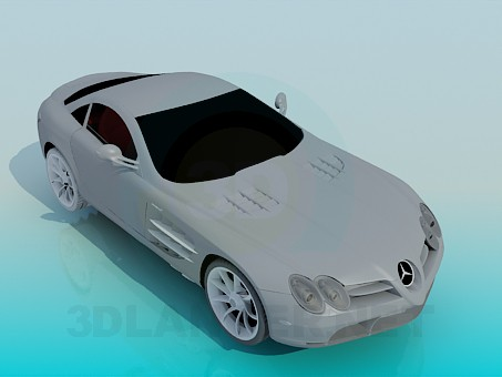modèle 3D Mercedes SLR - preview
