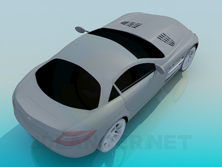 modelo 3D Mercedes SLR - escuchar