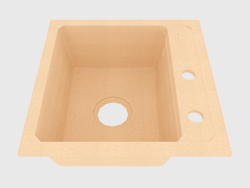 Sink, 1 bowl without wing for drying - sand Zorba (ZQZ 7103)