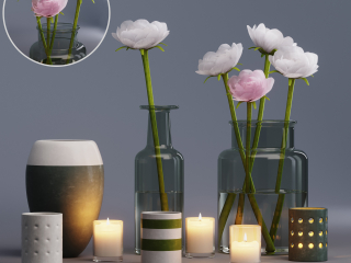 flowers decor set
