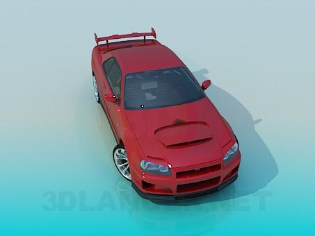 3d model Nissan Skyline - vista previa