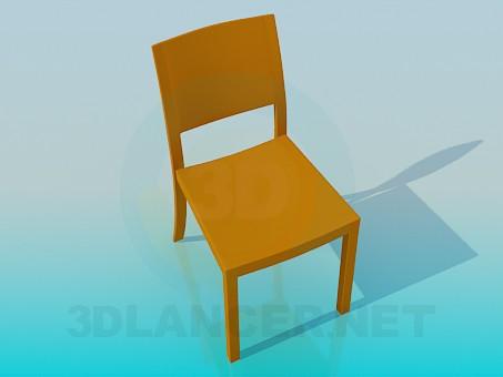 3d модель Дерев'яний стілець – превью