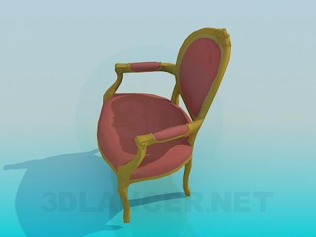 3d модель Классический стул – превью