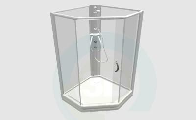 3d model Shower Cabin - preview