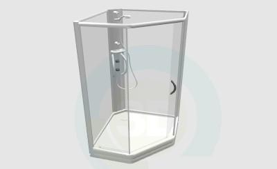 descarga gratuita de 3D modelado modelo Cabina de ducha