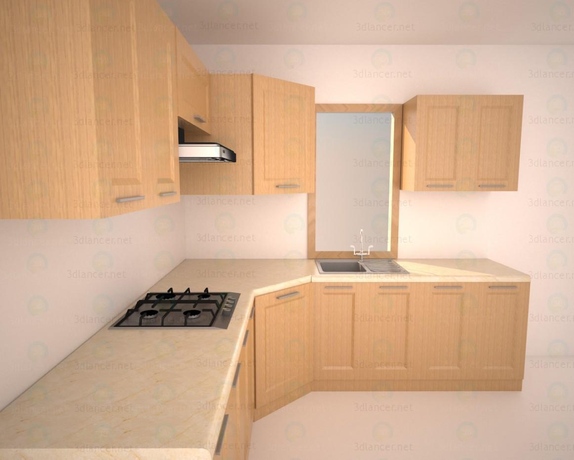 3d Kitchen-style minimalism model buy - render