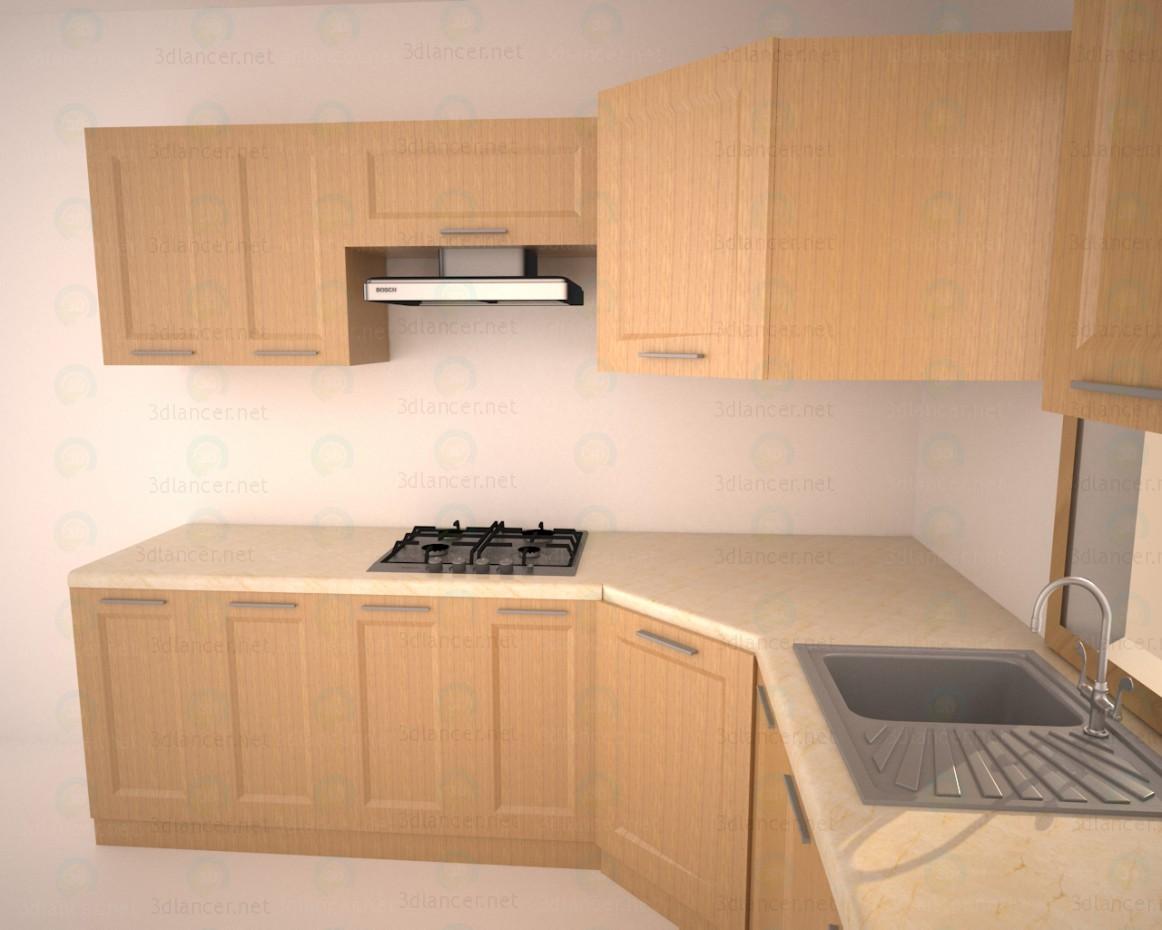 3d Кухня в стиле минимализм модель купить - ракурс