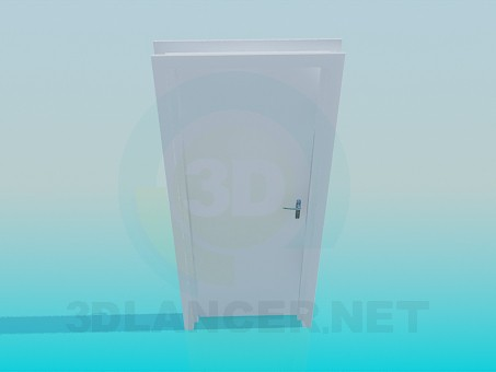 3d model office door - preview