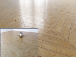 Parquet in pino, chevron.