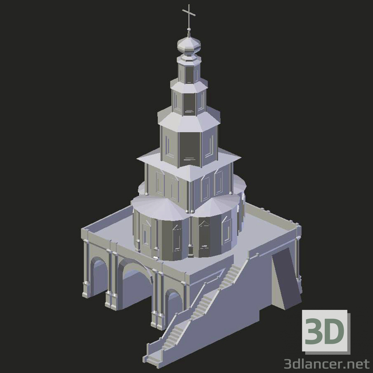 3d model New Jerusalem Monastery. Gate Temple - preview