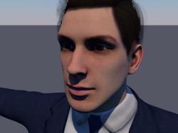 Modelo 3D de baixo poli de caráter de homem